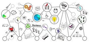 Business doodle, business sketch Stock Photos