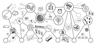 Business doodle, business sketch Royalty Free Stock Image