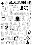 Business doodle design elements Royalty Free Stock Images