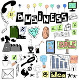 Business doodle design elements Stock Photography
