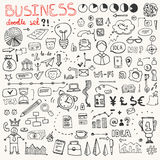 Business Doodle Element Set Stock Photography