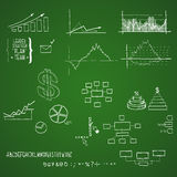 Business doodle elements. Business and finance doodle elements. Hand-drawn Stock Image