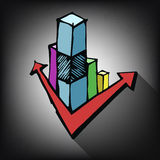 Business doodle graph Royalty Free Stock Photos