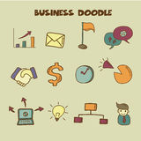 Business doodle icon Stock Images