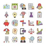 Business Doodle Icons Collection royalty free illustration