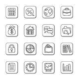 Business Doodle Icons Stock Photos