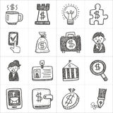 Business doodle icons Stock Photography