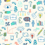 Business doodle pattern Stock Photography