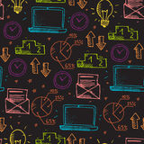 Business doodle pattern Stock Image