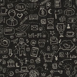 Business Doodle Seamless Royalty Free Stock Images