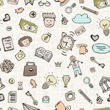 Business Doodle Seamless Royalty Free Stock Image
