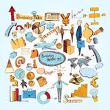 Business doodle set Royalty Free Stock Photos
