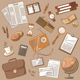 Business doodle vintage style Stock Image