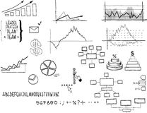 Business doodles Royalty Free Stock Image