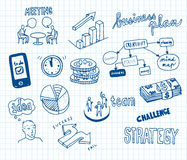 Business Doodles. Collection of Business Sketches and Doodles Stock Image