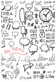 Business doodles. Commercial EPS10 vector Stock Photo