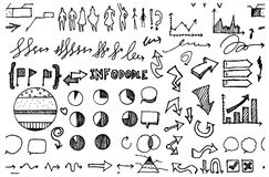 Business doodles. EPS10 vector drawing Royalty Free Stock Images