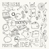 Business doodles, hand doodle Royalty Free Stock Photo