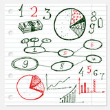 Business doodles hand drawn set. Royalty Free Stock Photography