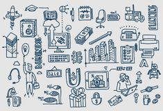 Business doodles Hand drawn vector elements and symbols. Business doodles Hand drawn vector elements and symbols Royalty Free Stock Photography