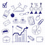 Business doodles seamless. Pattern background Royalty Free Stock Image