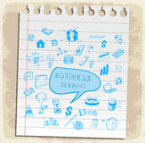 Business doodles set illustration, vector icon Royalty Free Stock Image