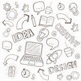 Business doodles set. Vector. Illustration Stock Photos
