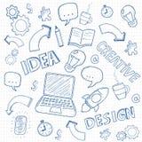 Business doodles set. Vector. Illustration Royalty Free Stock Images