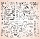 Business doodles Sketch set : infographics elements , Stock Photo