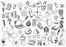 Business doodles - Various sketch business graffiti Stock Photography