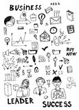 Business doodles Royalty Free Stock Photos