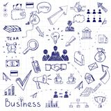Business doodles Stock Photos
