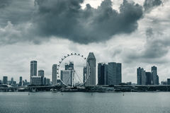 Business downtown and city landscape of Singapore., City landscape. Stock Photo