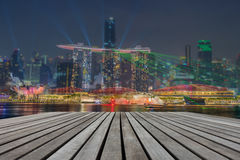 Business downtown and city landscape of Singapore at twilight sc Royalty Free Stock Photography