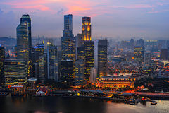 Business downtown of Singapore Stock Image
