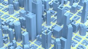 Business downtown and skyscrapers tower. 3d rendering.  stock illustration