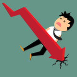 Business downtrend concept. Stock Image