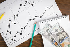 Business drawing graphics Stock Images
