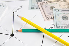 Business drawing graphics Royalty Free Stock Photography