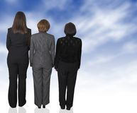 Business dream female backup team Royalty Free Stock Photos