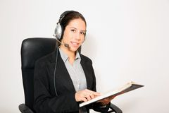Business dressed female model Stock Image
