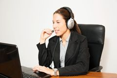 Business dressed female model Stock Images