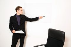 Business dressed male model. In different role plays Stock Image