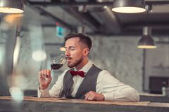 business drinking man wine 库存照片