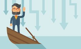 Business drowned stock illustration