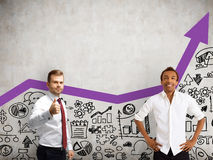Business duo portrait Royalty Free Stock Photos