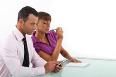 Business duo Stock Photo