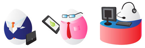 Business easter eggs Stock Photo