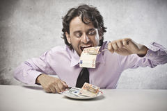 Business Eating Royalty Free Stock Image