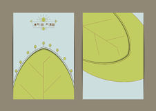 Business eco card template. Business card template. Environment and green Eco theme business card.Vector illustration Royalty Free Stock Photo